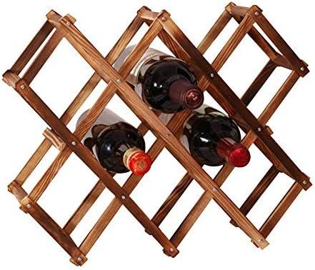 ►►Material premium: el botellero de madera plegable está hecho de madera de pino, que es respetuoso
