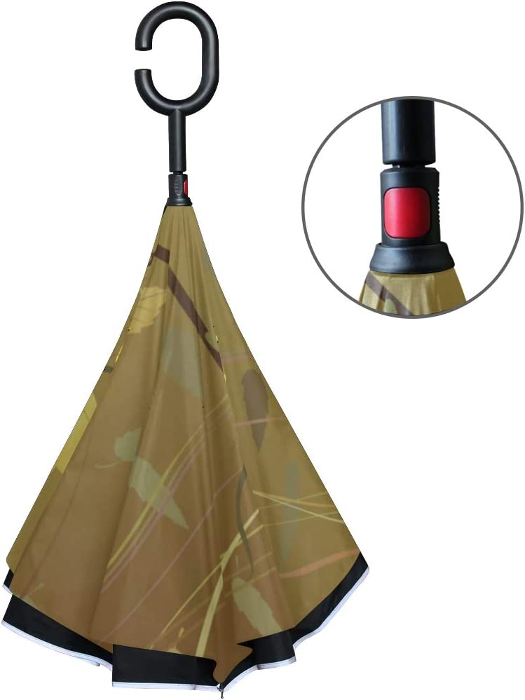 Double Layer Inverted Inverted Umbrella Is Light And Sturdy Wallpaper Reverse Umbrella And Windproof Umbrella Edge Night Reflection