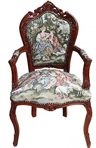 Casa Padrino Barock Esszimmer Stuhl Mit Armlehne Gobelin Love Story