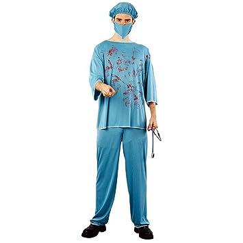 ... de Madera Médico Cirujano para Halloween Carnaval Fiesta del Tema Partido de Terror Cosplay Disfraz Las Batas Quirúrgicas: Amazon.es: Juguetes y juegos