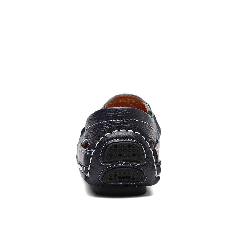 YAN Herrenschuhe Casual Mode Loafers Echtes Leder Atmungs Mode Casual Slip on Driving Schuhe Hochzeit Casual Party & Abend Büro Im Freien (Farbe : C, Größe : 46) D 401fba