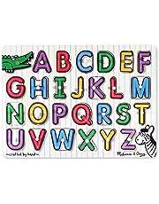 Melissa & Doug See-Inside Alphabet Wooden Peg Puzzle (26 Pieces)