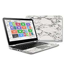 MightySkins Protective Vinyl Skin Decal for HP Pavilion x360 - 13 (2015) Touch Laptop case wrap cover sticker skins White Marble