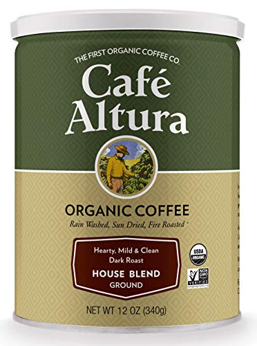 - Cafe Altura Ground Organic Coffee, House Blend, 12 Ounce (Pack of 3)