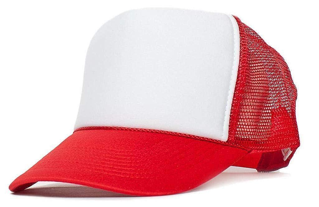 Wholesale Dozen 12 Pcs White ON RED Classic Foam Mesh Trucker Baseball Cap Hat Snapback #SAAS