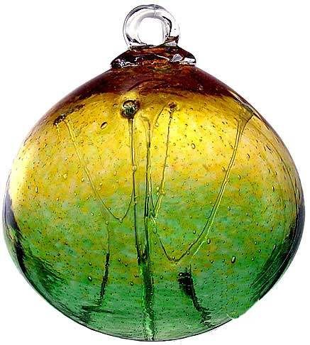 Kitras Art Glass Old English Hanging Witch Ball - 6