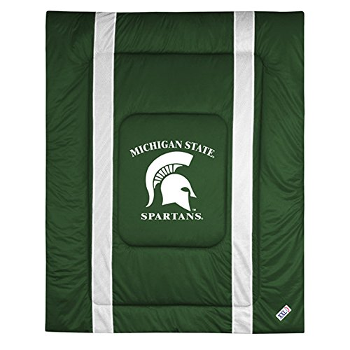 NCAA Michigan State Spartans Sideline Comforter Queen (Queen Sideline Comforter)