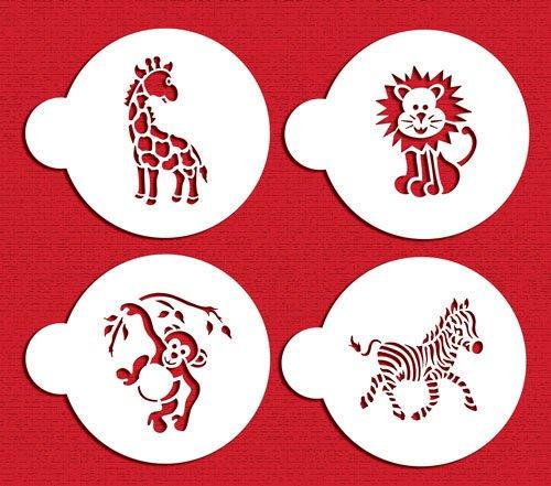 Designer Stencils C787 Jungle Animals Cookie, Beige/Semi-Transparent by Designer Stencils (Image #1)