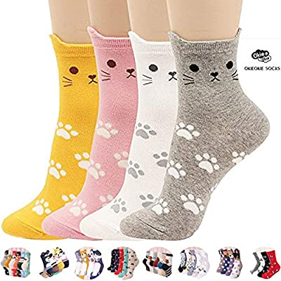 Cat Fan related Products Womens Cat Socks – Crazy Cute Animal Dog Owl Print Crew... [tag]