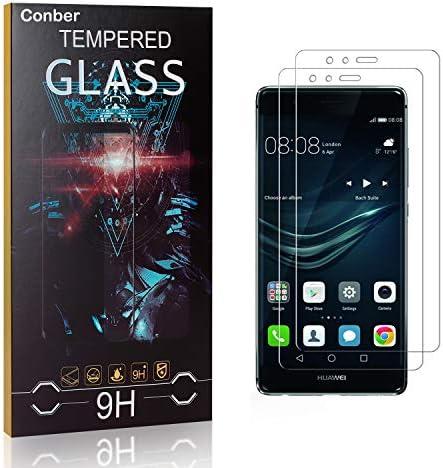 Conber [2 Stück] Displayschutzfolie kompatibel mit Huawei P9 Lite, Panzerglas Schutzfolie für Huawei P9 Lite [9H Härte][Hüllenfreundlich]