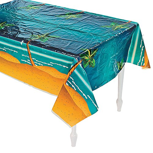 Luau Tableware (Tropical Palm Tree Table Cover - Party Tableware & Table Covers)