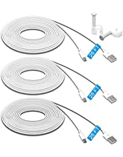 3 Pack 26FT/8M Power Extension Cable for Wyze Cam Pan, for WyzeCam, for Kasa Cam, for YI Dome Home Camera, for Furbo Dog, for Nest Cam,Blink, for Amazon Cloud Camera, Durable Charging and Data Sync Cord for Home Security Camera