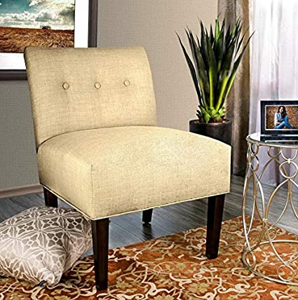 Amazon.com: Hebel Samantha Dawson 7 Tufted Accent Chair ...