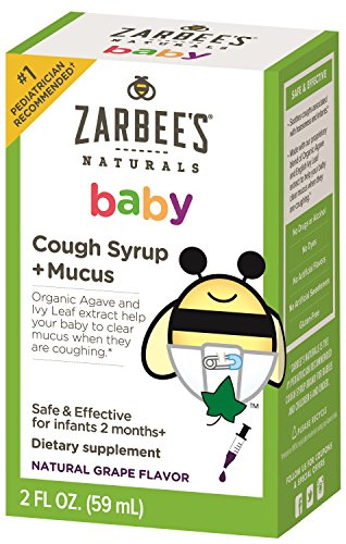 Zarbee's Naturals Baby Cough Syrup + Mucus - Grape, 2 Fl. (Smile Baby System)