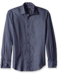 Men's Shaped Fit Long Sleeve Button Down Sport Shirt,