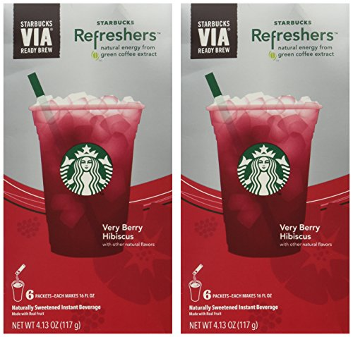 - Starbucks Via Instant Refreshers - Very Berry Hibiscus - 6 Packets (Pack of 2)