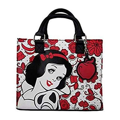 Loungefly Snow White Convertible Duffle Purse (One Size, Black/White/Red)