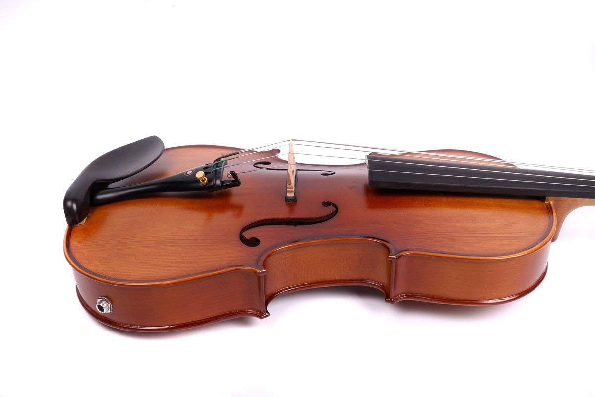 Yinfente 4/4 violin 5 string Electric violin Full size Maple Spruce wood Big jack Ebony wood Violin parts Sweet Sound by yinfente (Image #5)