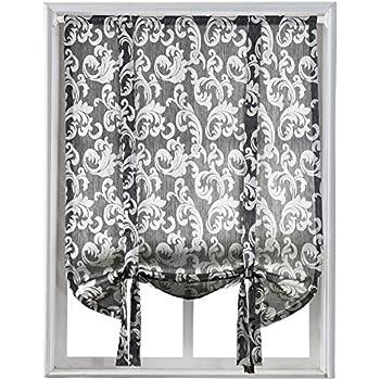 Amazon Com United Curtain Savannah Tie Up Shade 40 By 63