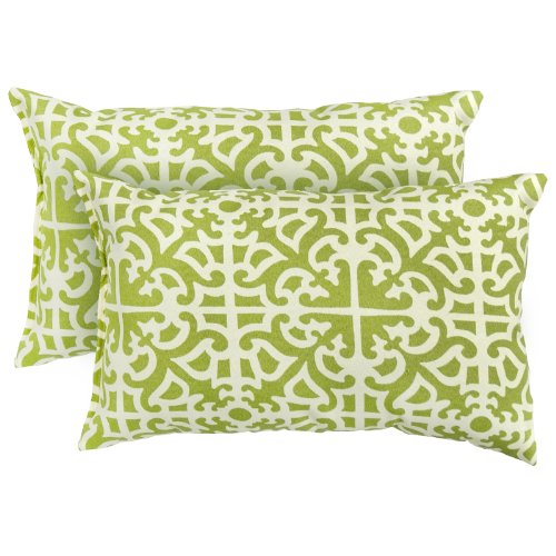 Greendale Home Fashions Rectangle IndoorOutdoor Accent Pillows Grass Set of 2