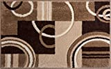 Kitchen Rugs Geometric Doormat Ruby Kitchen Bathroom Soft Durable Accent Rug Small Carpet Scatter Entry Mat Easy To Clean Modern Woven Hearth Mat Ivory 1'8