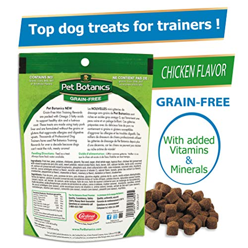 Pet Botanics Mini Training Rewards Golosinas De Pollo Sin Granos Para Perros 1 Bolsa 4 Onzas