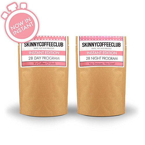 Skinny Coffee Club   Day   Night Weight Loss Program   Instant And Ground Coffee  Instant  28 Day And Night