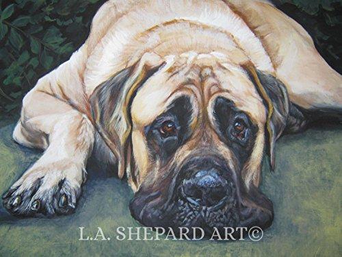 dog art portrait print of an LA Shepard painting 8x10