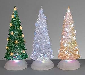 Funciona con pilas LED 25cm árbol de Navidad Mini luces LED que cambian de Color