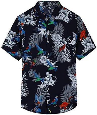 LFNANYI Flor de Moda Camisa Hawaiana Hombres Verano Nueva Playa Camisa Floral de Manga Corta Hombres Hombres Florales Más el Tamaño M-7XL: Amazon.es: Deportes y aire libre