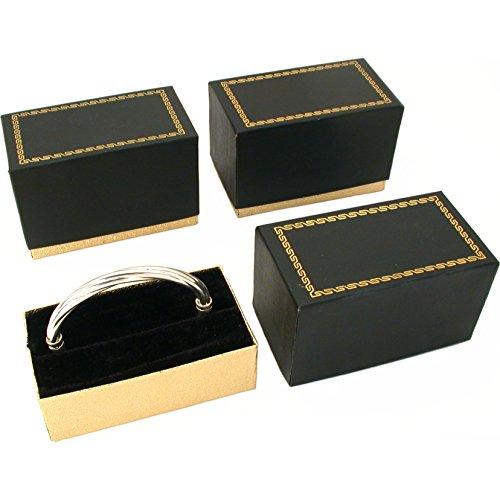 - FindingKing 3 Bangle Bracelet Boxes Black & Gold Gift Display Boxes