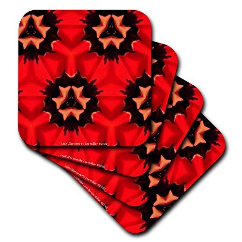 signs Kaleidoscope - Kaleidoscope Tulip Red 2 - Coasters ()