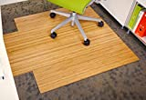 Anji Mountain Bamboo Chairmat & Rug Co. Roll-Up Bamboo Chairmat, 44-Inch-by-52-Inch, 5mm Thick, With Lip, Natural