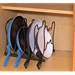 Callas Kitchen Cabinet Pantry Pan and Pot Lid Organizer Rack Holder, CA63