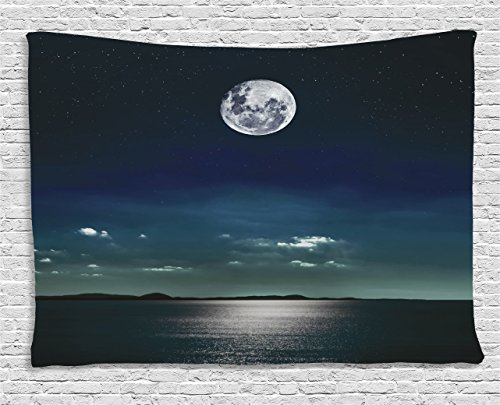 Ambesonne Tapestry Reflected Moonlight Surface