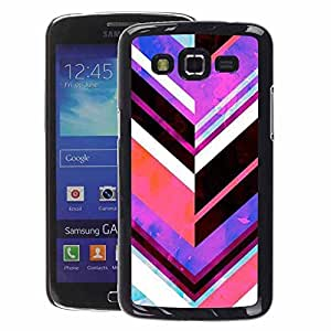 A-type Arte & diseño plástico duro Fundas Cover Cubre Hard Case Cover para Samsung Galaxy Grand 2 (Chevron Pattern Purple Abstract Lines)