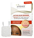Embrace Scar Treatment, Silicone Sheets for New Scars with Active Scar Defense, Small 1.6 inch Sheets, 3 Count, Initial Half Treatment (30 Day Supply)