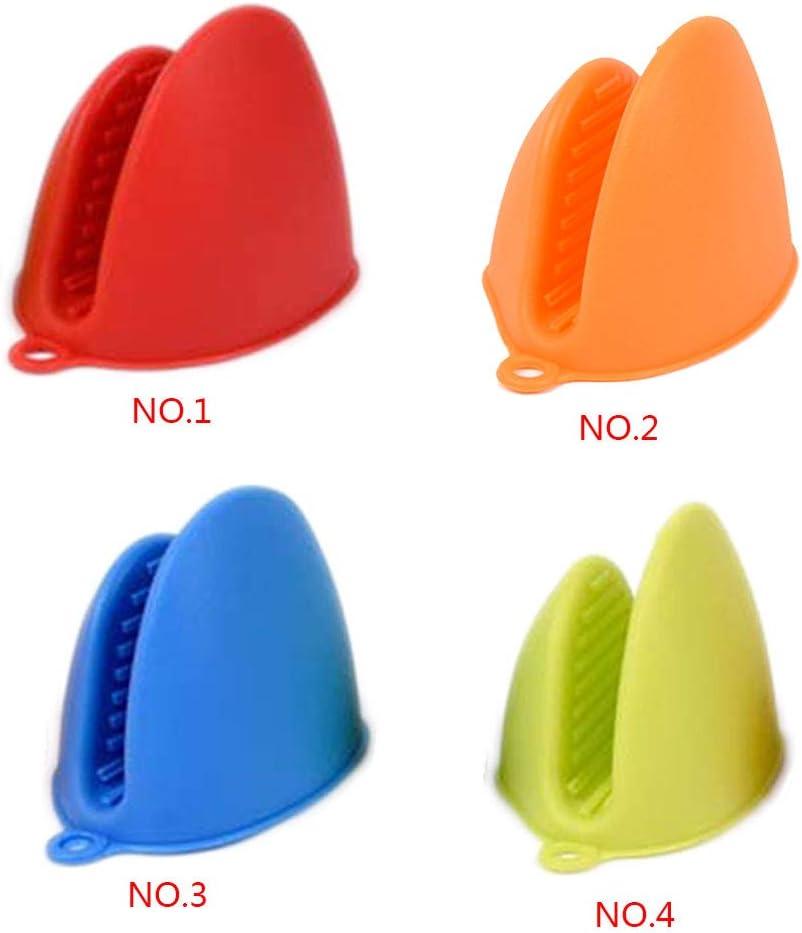 Censhaorme 1 Paar Silikon-Handschuhe W/ärmeisolierung Handschuhe Mini Topflappen Ofen Anti-Rutsch-Backen-Ofen F/äustling Mikrowellenherd Hand Clip