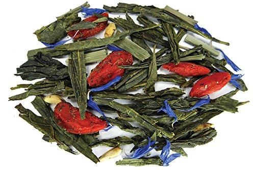 Green Tea Goji Berry (Super Fruit Sencha Green Tea - Premium Loose Leaf Tea - Fusion Teas - 6oz Pouch)