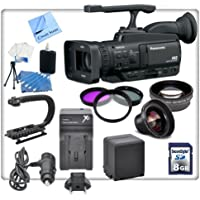 Panasonic AG-HMC40 AVCCAM HD Camcorder With Essentials Kit. Includes Stabiliazing Handle/Grip, Replacement VBG260 Battery, Rapid Travel Charger, 3 Piece Professional Filter Kit, High Definition Wide Angle Lens, Telephoto HD Lens, 8gb SDHC Memory Card, Cleaning Kit & CS Microfiber Cleaning Cloth