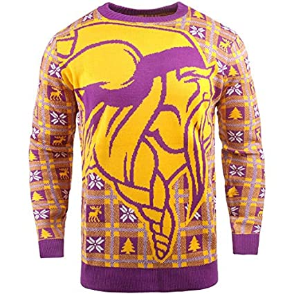 new product d1b12 81b20 BIG NFL Ugly Sweater Pullover Christmas Minnesota Vikings Logo  Weihnachtspullover