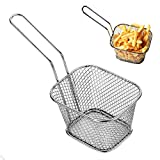 S&M TREADE-Stainless Steel French Fries Basket Fry Basket Strainer Kitchen Cooking Tools