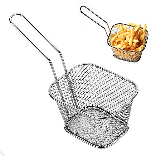 S&M TREADE-Stainless Steel French Fries Basket Fry Basket Strainer Kitchen Cooking (Betty Boop Round Clock)