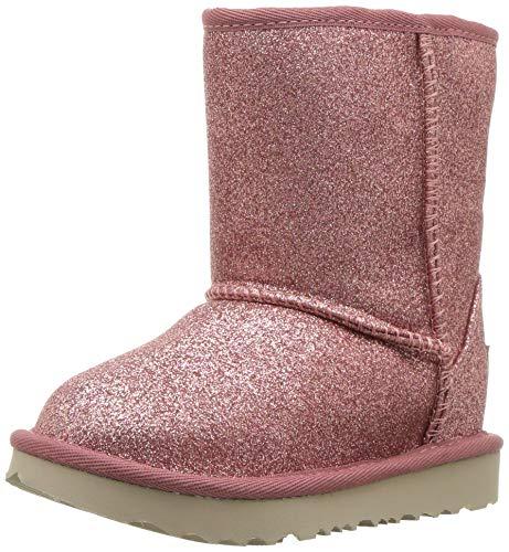 UGG Classic Short ll Glitter Boot , Pink, 12 M US Little Kid
