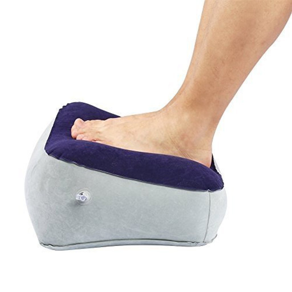 TAUWELLL Inflatable Foot Rest Portable Pillow Feet Cushion for Airplane Travel Office Bus Car and Home, Leg up Footrest Prevent Swelling and Soreness Provides Relaxation