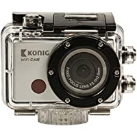 KONIG CSACW100 Full HD action camera 1080p waterproof WiFi (Snowboarding, Skydiving, Cycling, Rafting, Running, Anything!)