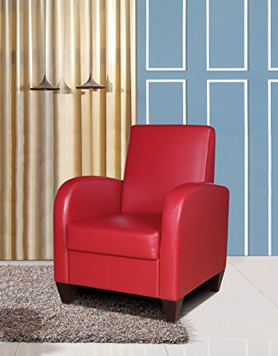 (NHI Express David Accent Chair, 1 Pack, Red)