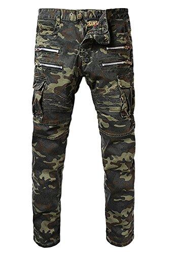 ge Pockets Slim Biker Jeans Size 33 ()