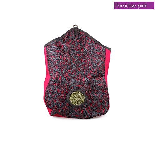 Heusack, Futtersack, Heutasche, Heunetz für Heu in modernen Designs, Farbe:Paradise Pink