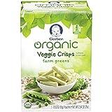 yogurt bites organic - Gerber Graduates Organic Veggie Crisps, Green, 5 Count (Pack of 2)